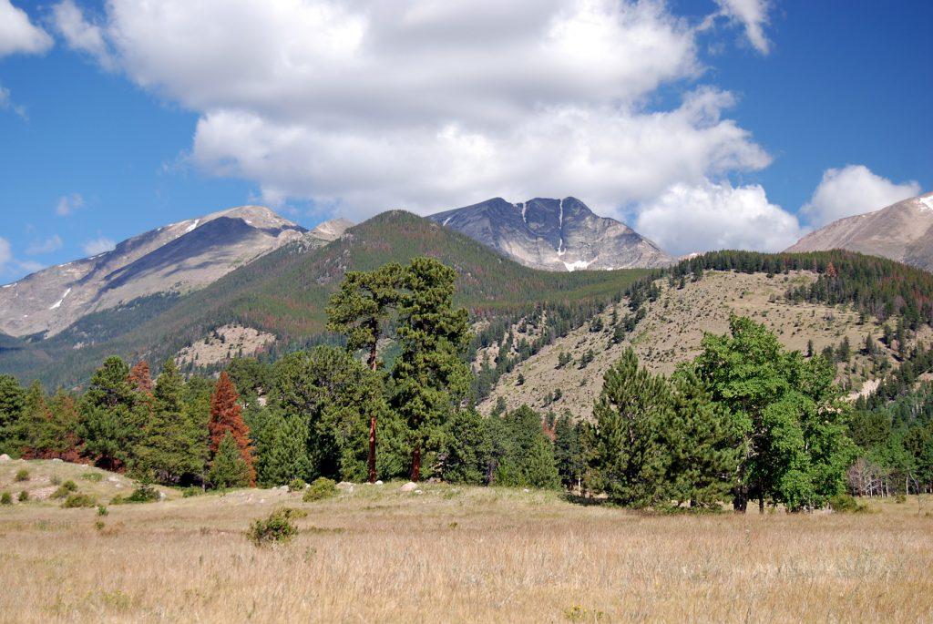 Mummy Range desde Horseshoe Park. Parque Nacional de las Rocosas, Colorado