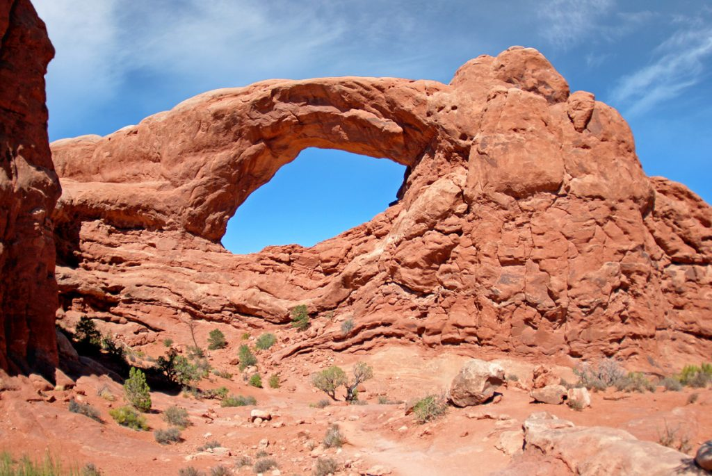 Arches National Park, Utah. South Window en la Windows Section