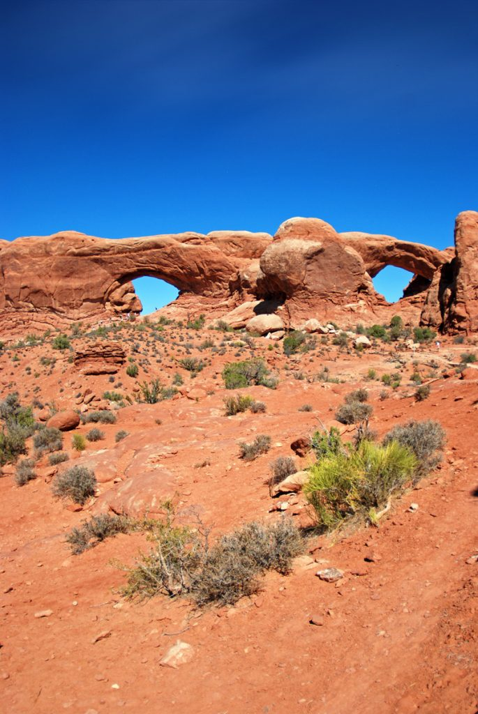 Arches National Park, Utah. Nose Bridge en la Windows Section
